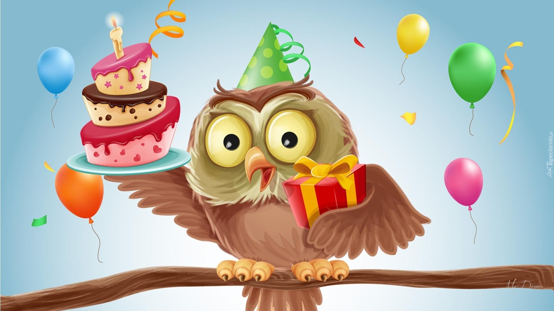 Открытки с днем рождения с совами стихах красивые, своими