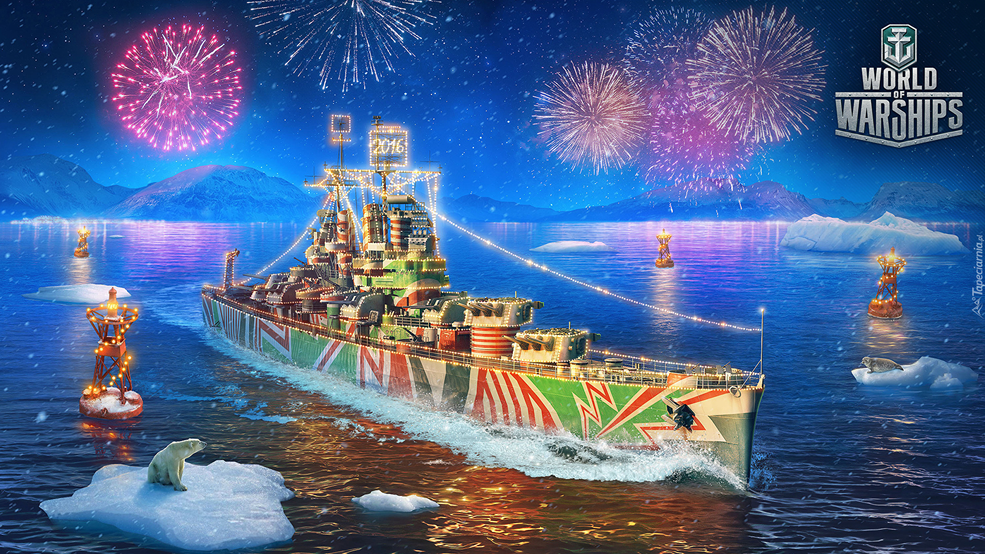 Gra, World of Warships, Okręt, Fajerwerki