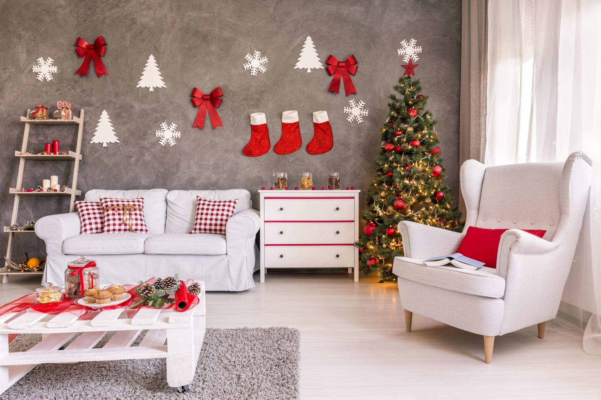 christmas home decor ideas wallpaper tapety miejsca 12008