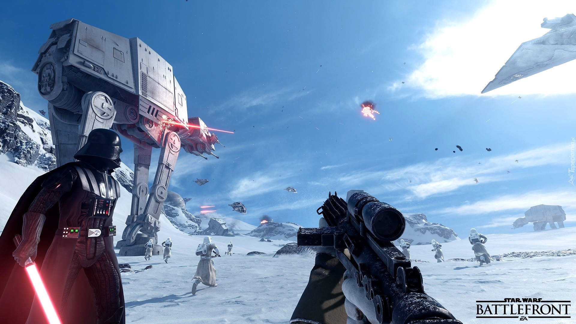 Star Wars: Battlefront, Postacie, Darth Vader, Walka
