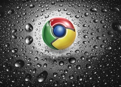 Chrome, Logo, Krople
