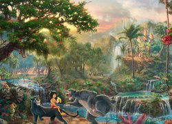 Thomas Kinkade, Disney, Film animowany, The Jungle Book, Księga Dżungli, Neel Sethi