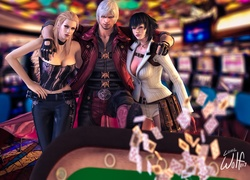 Devil May Cry, Dante, Trish, Lady