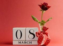 8 Marca, Dzień, Kobiet, Róża