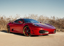 Ferrari, F430, Parking, Trawy