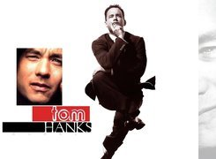 Tom Hanks,czarny garnitur