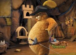 Shrek Osioł Kapelusz Uśmiech Przyjaźń