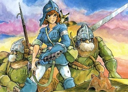 Nausicaa Of The Valley Of Mist, Manga, Anime, Rysunek