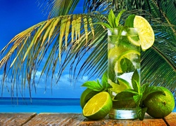 Kolorowe, Drinki, Basen, Dom, Tropik