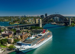 Statek, Most, Sydney, Port, Panorama, Miasta