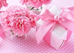 Gozdziki, Różowe, Kwiaty, Prezent, Dzień Kobiet, Urodziny, Podziękowanie