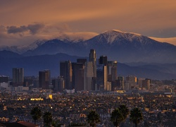 Los Angeles, Kalifornia, USA, Miasto, Noc