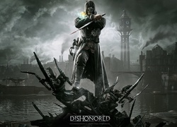 Dishonored, Corvo, Maska, Sztylet