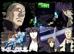 ludzie, pistolet, Ghost In The Shell, roboty