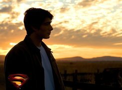 Superman Returns, Brandon Routh, zachód, płot, smutny
