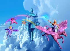 Film animowany, Barbie i magia pegaza, Barbie and the Magic of Pegasus, Zamek, Pegaz, Kucyk