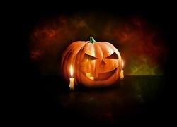 Halloween, Dynia, Świeczka