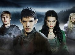 Przygody Merlina, The Adventures of Merlin, Merlin - Colin Morgan, Morgana - Katie McGrath, Arthur - Bradley James, Morgose - Emilia Fox