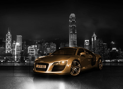 Audi R8 Gold Chrome, 2015, Hong Kong