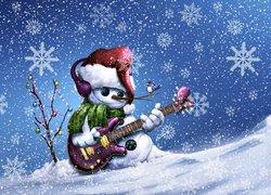 Bałwanek, Gitara, Gwiazdki, Święta