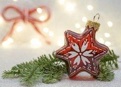 Bombka, Gwiazdka, Gałązka, Świerkowa, Boże Narodzenie