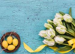 Tulipany papuzie, Bukiet, Pisanki, Wielkanoc