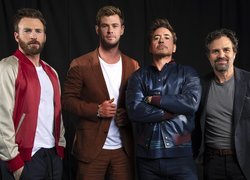 Chris Evans, Chris Hemsworth, Robert Downey Jr. i Mark Ruffalo