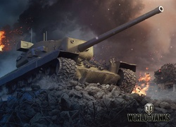 Gra, World of Tanks, Czołg T29, Ruiny