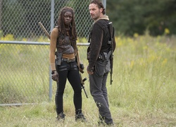 Serial, The Walking Dead, Żywe trupy, Rick Grimes, Andrew Lincoln, Michonne, Danai Gurira