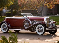 Zabytkowy, Duesenberg Disappearing Top Torpedo Convertible Coupe, 1929