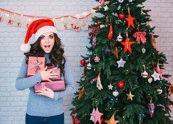 Boże Narodzenie, Kobieta, Choinka, Prezenty