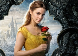 Aktorka, Emma Watson, Film, Piękna i Bestia, Beauty and the Beast, Róża