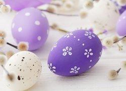Wielkanoc, Fioletowe, Pisanki, Bazie, Rozmycie, Deski