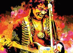 Jimi Hendrix w grafice