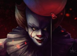 Klaun Pennywise, Balon, Film, To, It, Paintography