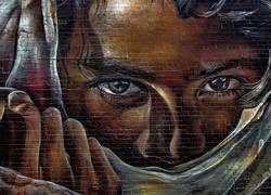b23c9d057 Graffiti, Napis Graffiti, Zasłonięta, Twarz, Oczy, ...