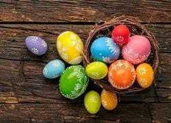 Wielkanoc, Gniazdo, Pisanki, Deski