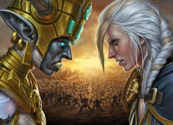 Księżniczka Talanji i Jaina Proudmoore z gry World of Warcraft:Battle for Azeroth