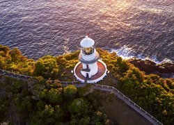 Latarnia morska Sugarloaf Point Lighthouse z lotu ptaka
