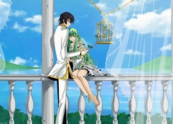 Lelouch Lamperouge i C.C. z serii anime Code Geass
