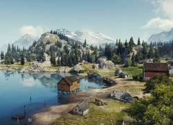 Gra, World of Tanks, Mapa, Serene Coast, Cichy Brzeg
