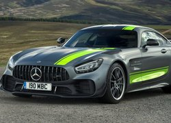 Mercedes-AMG GT R, Zielone, Pasy