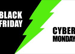 Napis Black Friday i Cyber Monday