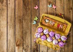 Wielkanoc, Pisanki, Napis, Spring, Deski, Motylki