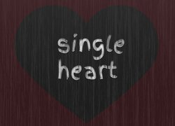 Serce, Grafika, Napis, Single heart