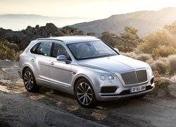 Srebrny Bentley Bentayga
