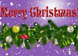 Grafika, Stroik, Bombki, Boże Narodzenie, Życzenia