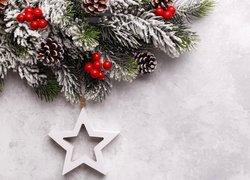 Gałązki, Szyszki, Jagody, Zawieszka, Gwiazda, Świąteczne, Ozdoby, Boże Narodzenie