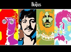 John Lennon, Ringo Starr, George Harrison, Paul McCartney, The Beatles, Grafika